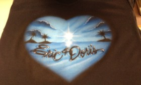 Air Brush Custom tee shirts.