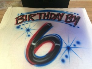 Birthday Tee Shirts. Any size and any color.