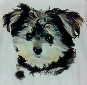 CUSTOM AIR BRUSHING PORTRAITS OF YOU DOGS AND CATS..
