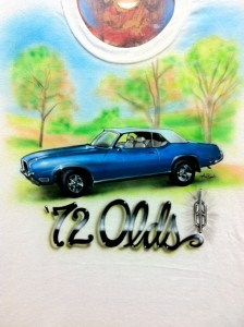 WE CUSTOM AIR BRUSH TEE SHIRTS WITH ANY CAR PHOTO..