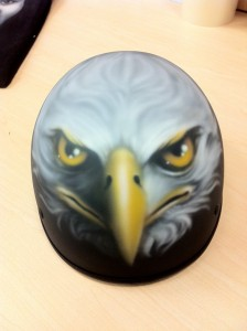 CUSTOM  AIR BRUSH HELMETS.
